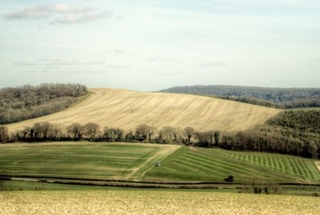 South Downs looking towards Amberley