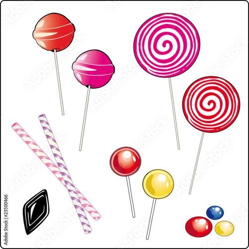 Lolly, Lollies, Lutscher, Süßigkeiten, Zuckerstangen, Set