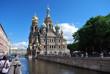 Devant la cathédrale du Sang-Versé à St Petersbourg