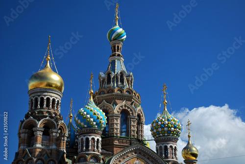 Les bulbes du Saang-Versé à St Petersbourg