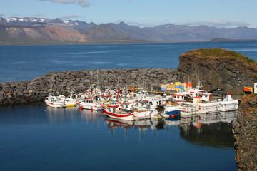 Iceland - harbor in Arnarstapi