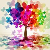 Abstrakcyjne kolorowe drzewo