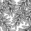 roleta: Seamless olive background black and white
