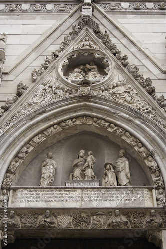 Gothic Portal of a Church in Naples, Italy