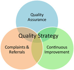 Quality strategy business diagram