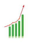 Growing bull trend chart poster