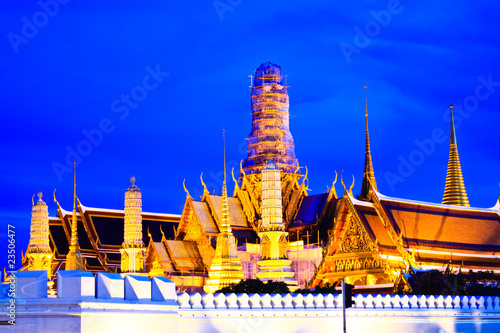 Grand palace and wat phra kaeo at nigth,bangkok,thailand
