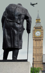 Churchill and Spitfire at Westminster