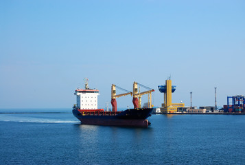 The vessel calling at the port