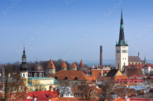 View on Old city of Tallinn. Estonia