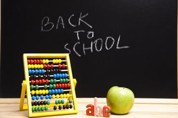 Back to school - inscription on blackboard