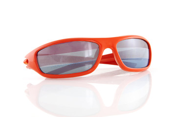 Dutch Soccer glasses over white background