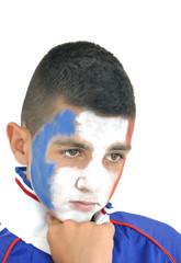 Jeune supporter de l'équipe de France