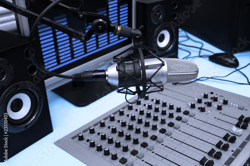 In radio studio - 23510403