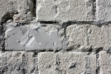Weißer Ziegelstein