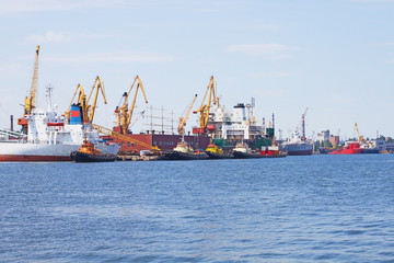 View on trading port