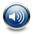 Blue volume icon/button