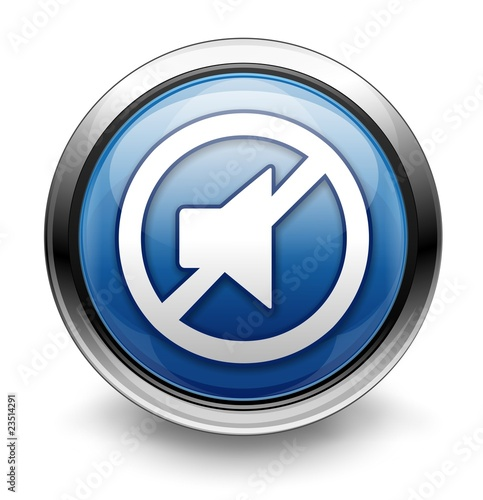 Blue mute icon/button
