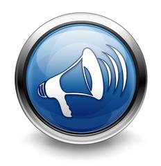 Blue announcement icon