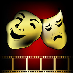 theatrical mask of tragedy and comedy