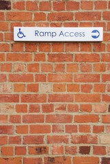 Ramp access sign