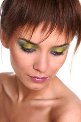Beautiful woman with fashion eye make-up