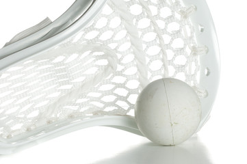 White Lacrosse Head with Ball