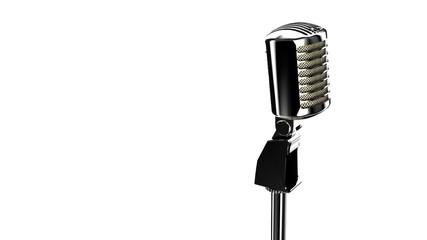 vintage mic with alpha matte, seamless loop