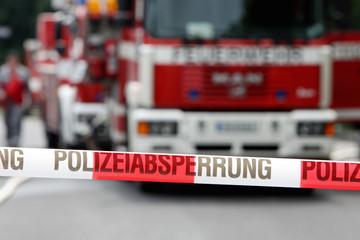 Absperrung Feuerwehr
