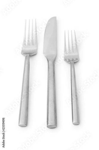 Table utensils isolated on the white