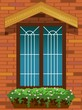Illustration of window design with wall