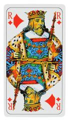 carte roi de carreau, fond blanc