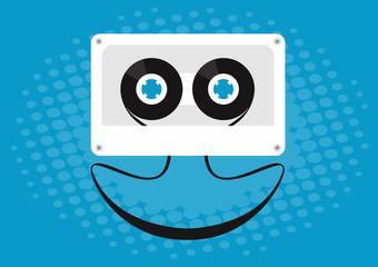 Cassette smiling