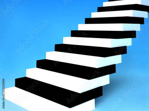The Stairs-key on blue.