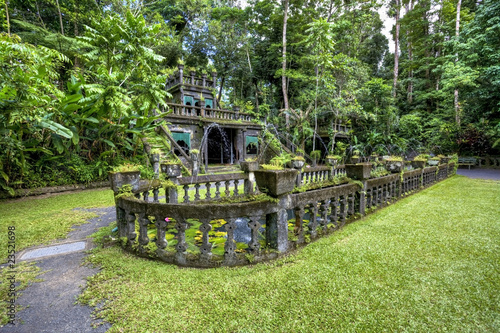 castle in tropical forest