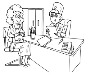 Medical consultation for a pregnant woman