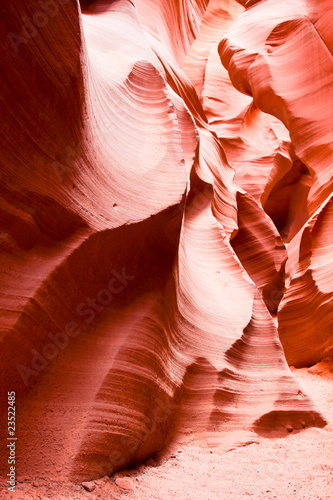 Beautiful sandstone rock formations of Antelope Canyon in Arizon