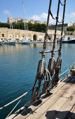 Malta, particolare di antica imbarcazione
