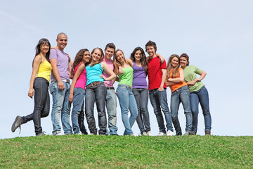 group of youth at summer camp
