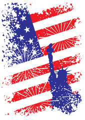 patriotic usa background with liberty