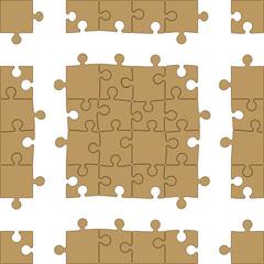 Blank Puzzle Seamless Pattern
