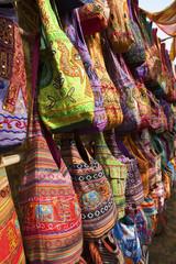 Anjuna market, Goa. Bags for sale