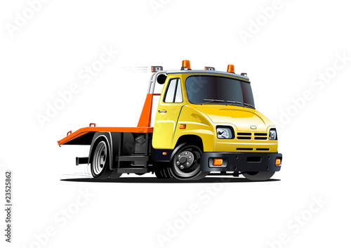 Foto op Canvas Cartoon cars vector cartoon tow truck