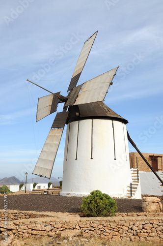 Old windmill on Canary Island Fuerteventura, Spain