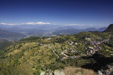 Annapurna range from Bandipur village - Nepal
