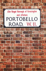 Portobello Road Street Sign, London.