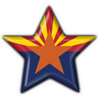 Arizona (USA State) button flag star shape
