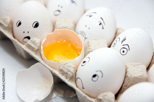 Eggs with smile