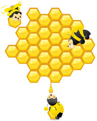 Working Bees -vector contains layers-