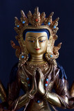 Bronze decorative buddha statue